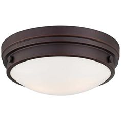 "Culver Collection 13 1/4"" Wide Lathan Bronze Ceiling Light -"
