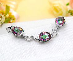 Rainbow Mystic Topaz Bracelet Ring Bracelet, Bracelets, Mystic Topaz, Brooch Pin, Brooches, Fashion Jewelry, Rainbow, Gemstones, Sterling Silver