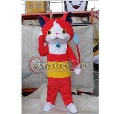 Find More Mascot Information about Youkai Watch Jibanyan Mascot Costume Adult Cartoon Carnival Party Costume Custom Made D0610,High Quality costume turquoise,China costume made prom dresses Suppliers, Cheap costume tutu from My Cosplay World on Aliexpress.com
