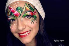19 christmas makeup ideas that are anything but basic Face Painting Unicorn, Unicorn Face, Body Painting, Christmas Face Painting, Face Painting Designs, Paint Designs, Christmas Makeup, Christmas Ideas, Christmas Unicorn