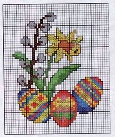 Cross Stitch Cards, Beaded Cross Stitch, Cross Stitch Samplers, Counted Cross Stitch Patterns, Cross Stitch Designs, Cross Stitching, Cross Stitch Embroidery, Christmas Embroidery Patterns, Easter Cross