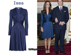 The deep blue Issa dress that Kate Middleton wore when she and Prince William announced their engagement sold out in minutes.