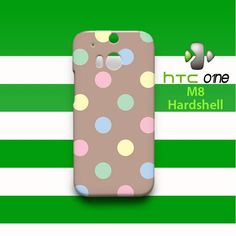 Cute Pastel Polka Dots HTC One M8 Case Cover Hardshell