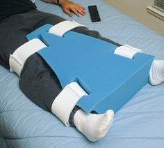 Abduction Pillow is great for positioning lower extremities following hip or knee replacements.
