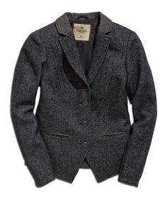 Dark Gray Wool-Blend Blazer   zulily