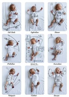 Creativity has no age … that's how to make original photos for the arrival of baby - Kids and Parenting The Babys, Baby Boy, Baby Kids, Monthly Baby Photos, Foto Baby, Baby Album, Newborn Pictures, Funny Baby Pictures, Photos Of Babies