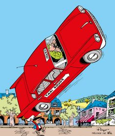 Benoit Brisefer n'aime pas les taxis Peyo et Will