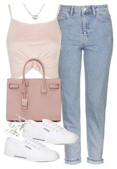 """Untitled #5111"" by angela379 ❤ liked on Polyvore featuring Topshop, Yves Saint Laurent, Superga and Cartier"