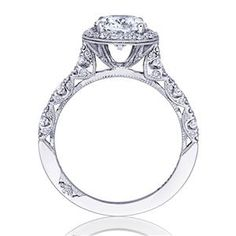 TACORI Halo 18K - White Gold Diamond Engagement Ring HT2560OV9X7 #ArthursJewelers