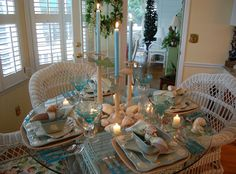 Between Naps on the Porch: Beach Tablescape... Welcome to the 49th Tablescape Thursday!