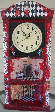 Alice in Wonderland Corner Curio Clock by thumbprintz on Etsy