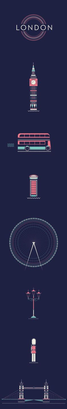 London by Veronica Da Fazio; I really love the simplicity, yet it's so detailed. Perfect graphic art