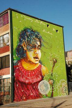 Street Art from Santiago de Chile - Street Art Utopia Best Street Art, Amazing Street Art, 3d Street Art, Street Artists, Murals Street Art, Street Art Graffiti, L'art Du Portrait, Graffiti Artwork, Beautiful Streets
