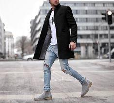 Autumn And Winter Fashion Pure Color Long Warm Coat – Halobros Fashion Night, Winter Fashion, Trendy Mens Fashion, Fashion Men, Tomboy Fashion, Fashion Ideas, Fashion Blogs, Style Parisienne, Boyfriends