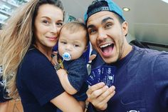 Carlos & Alexa PenaVega with their son Ocean King