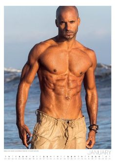 Well-sculpted man candy Ricky Whittle