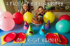 A Race Car Birthday Party on a K-Car Budget...