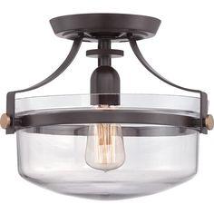 Laurel Foundry Modern Farmhouse Celia 1 Light Semi Flush Mount & Reviews   Wayfair