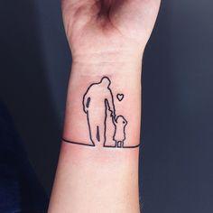 Tatuaje De Silueta Padre E Hija Tatuaje Cata Pinterest Tattoos