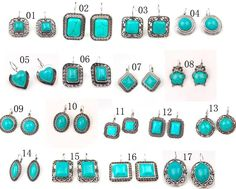 17 style option tibetan silver tone turquoise drop earrings natural stone jewelry