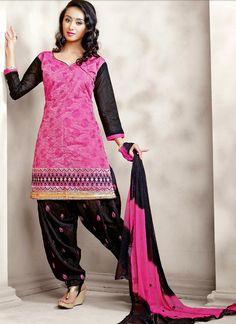 Pink Hakoba Chanderi Silk #Patiala