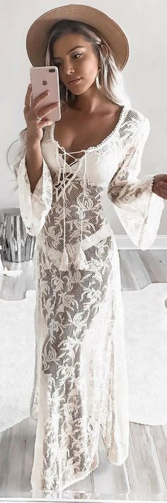 Beautiful Boho Cover up // Summer Outfit Idea by Kelsey Floyd