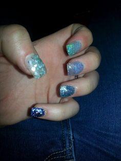 Progressive light blu  Glitter e pietre