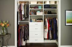 20 Stunning Closet Ideas Interiorforlife.com ReachIn Closet Organizer