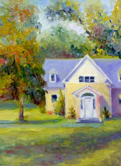 """""""Welcome to the Preserve"""" Original plein air landscape oil painting from the Mapleton Preserve in Princeton, NJ"""