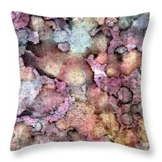 "Antique Peach Dream Throw Pillow (14"" x 14"") by Tammy Finnegan.  Our throw pillows are made from 100% cotton fabric and add a stylish statement to any room.  Pillows are available in sizes from 14"" x 14"" up to 26"" x 26"".  Each pillow is printed on both sides (same image) and includes a concealed zipper and removable insert (if selected) for easy cleaning."