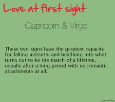 Capricorn woman dating virgo men