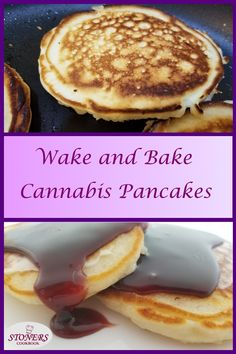 Wake and Bake Cannabis Pancakes can be made with either cannamilk or yogurt whey. The fluffy, soft pancakes are delicious with any toppings. Enjoy them as meals, snacks or desserts. Weed Recipes, Marijuana Recipes, Cooking With Marijuana, Cannabis Cookbook, Baking Recipes, Dessert Recipes, Desserts, Cannabis Edibles, Edible Food