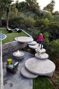 Wat een gaaf idee voor als je meerdere verdiepingen in je tuin hebt.