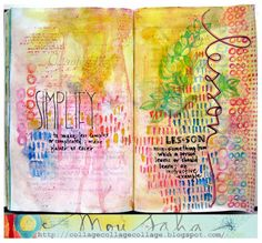 Lovely Art Journal Page by Mou Saha  My Life in Collage Blog