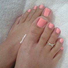 Fall Toe Nails, Pink Toe Nails, Pretty Toe Nails, Cute Toe Nails, Toe Nail Color, Pink Toes, Feet Nails, Cute Acrylic Nails, Pretty Toes
