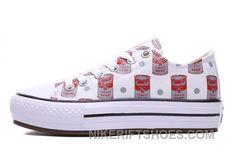 96b9d6b07c8b77 Andy Warhol X CONVERSE Women Red Platform Mato Soup Print CT All Shoes  Cheap To Buy EJ2r6