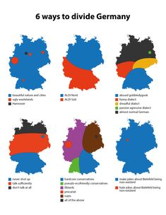 6 ways to divide Germany.