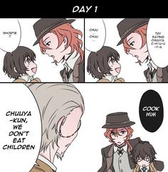 Taking care of baby Dazai 3/5