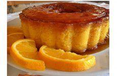 Delicioso pudim de laranja e fácil de fazer