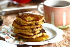 Pumpkin Chocolate Chip Pancakes