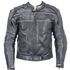 Mens Soft Naked Leather Biker Jacket with Armor Air Vents and Solid Back for Patches