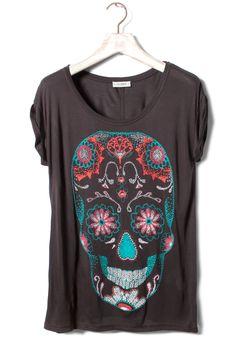 Pull & Bear mexican skull t-shirt