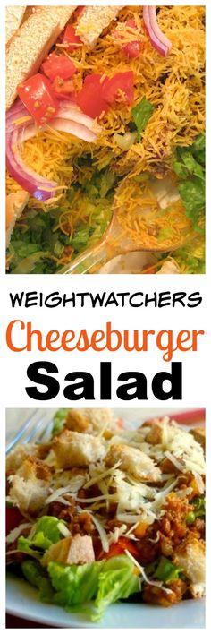 Weight Watchers Friendly Cheeseburger Salad