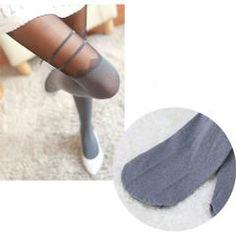 Gri Siyah Alt Kısmı Koton Üst Kısmı İnce Bayan Külotlu Çorap