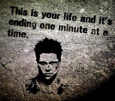 """""""ending one minute at a time"""" . . .for every lie you justify."""