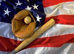 With an American in our team, we can not forget their culture either. Looking at a flag with the baseball bat and glove, one immediately is reminded of America.