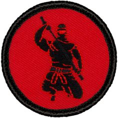 Ninja Patch 318 3 Colors 2 Inch Diameter Embroidered Patch