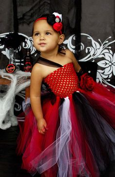The Trubie- True Blood Vampire Inspired Tutu Dress- Costume- Vampire tutu- Tutu dress-