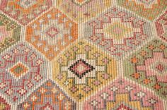 Super Beautiful Vintage Kilim RugHand Made Turkish by PassionRug