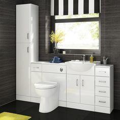 Bathroom Sink Cabinet Vanity Unit White Basin Storage Furniture Door Sink Toilet    eBay